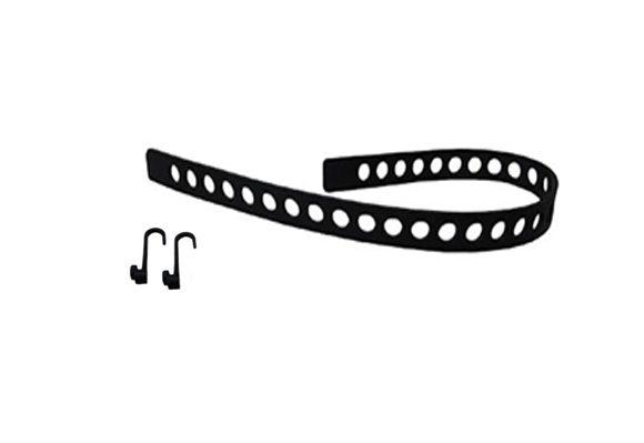Quick Fist Rubber Tie down Belt Hooks - 1 belt & 2 hooks