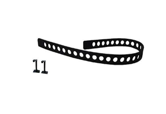 Quick Fist Rubber Tie down Belt Posts - 1 belt, & 2 mounting posts